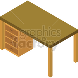 isometric desk vector icon clipart 6 clipart. Commercial use image # 414193