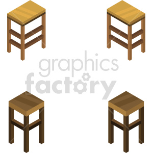 isometric bar stools vector icon clipart 1 clipart. Commercial use image # 414206