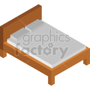 isometric bed vector icon clipart 3 clipart. Commercial use image # 414228