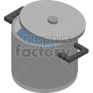 isometric cooking pot vector icon clipart 2 clipart. Commercial use image # 414232