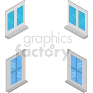 isometric window vector icon clipart 1 clipart. Commercial use image # 414233
