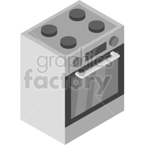 isometric oven vector icon clipart 7 clipart. Commercial use image # 414270