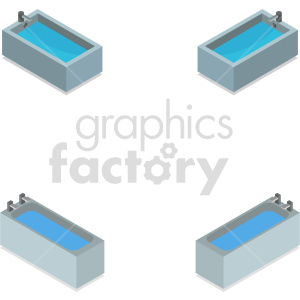 isometric bath tub vector icon clipart 1 clipart. Commercial use image # 414275