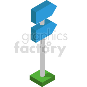 isometric 8bit street sign vector icon clipart 7 clipart. Commercial use image # 414323