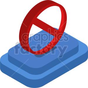 isometric ban cancel symbol vector icon clipart 2