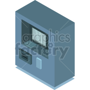 isometric atm vector icon clipart 7 clipart. Commercial use image # 414367