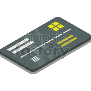 isometric credit card vector icon clipart 9 clipart. Commercial use image # 414371