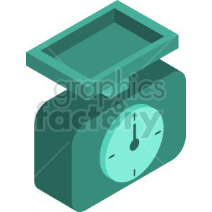 isometric food scale vector icon clipart 6 clipart. Commercial use image # 414392
