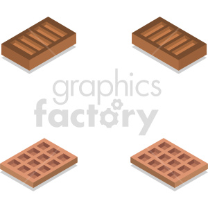 isometric bricks vector icon clipart 2 clipart. Commercial use image # 414402