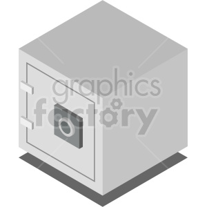 isometric safe vector icon clipart