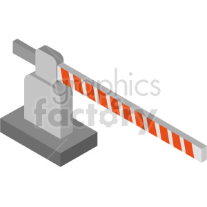 isometric road gate vector icon clipart 2 clipart. Commercial use image # 414428