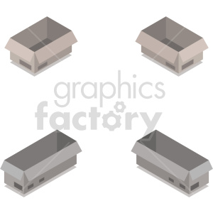 isometric boxes vector icon clipart 10 clipart. Commercial use image # 414436