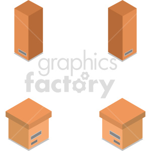 isometric boxes vector icon clipart 2 clipart. Commercial use image # 414451