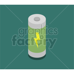isometric battery vector icon clipart 1 clipart. Commercial use image # 414478