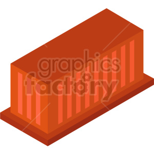 isometric storage container  vector icon clipart 4 clipart. Commercial use image # 414487