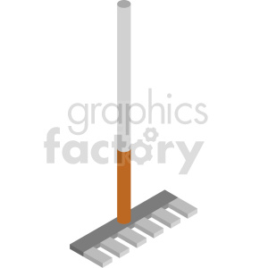 isometric rake vector icon clipart 4 clipart. Commercial use image # 414510