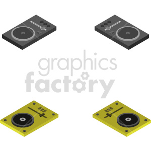 isometric record turn table vector icon clipart 6 clipart. Commercial use image # 414511