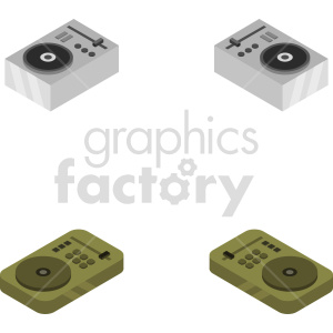 isometric record turn table vector icon clipart 7 clipart. Royalty-free image # 414520