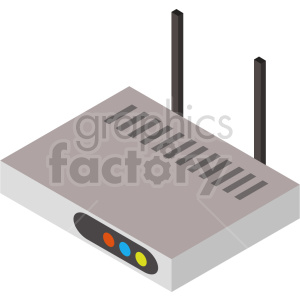 isometric network router vector icon clipart 3 clipart. Commercial use image # 414531