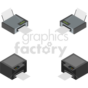 isometric printer vector icon clipart 2 clipart. Commercial use image # 414540