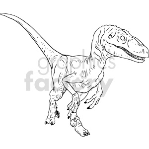 raptor black and white clipart clipart. Commercial use image # 414773