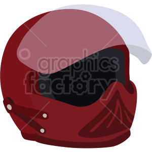 red street motorcycle helmet vector clipart clipart. Commercial use image # 414897