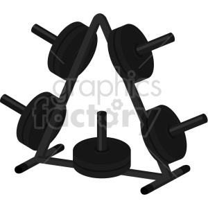 weight plate rack vector graphic clipart. Commercial use image # 414916