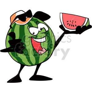 watermelon cartoon clipart clipart. Commercial use image # 414957
