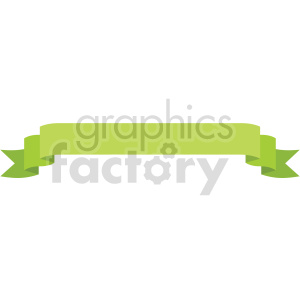 green straight ribbon design vector clipart clipart. Commercial use image # 414997
