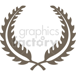 clipart - feather laurel wreath design vector clipart.