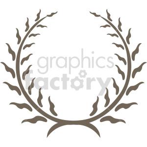 clipart - ripple laurel wreath design vector clipart.
