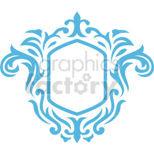 rectangle frame design vector clipart clipart. Commercial use image # 415076