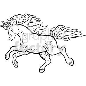 unicorn vector graphic art clipart. Commercial use image # 415143