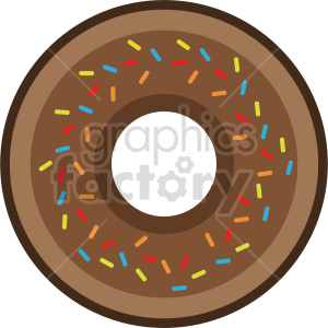 Doughnut with sprinkles vector clipart. Commercial use image # 415157