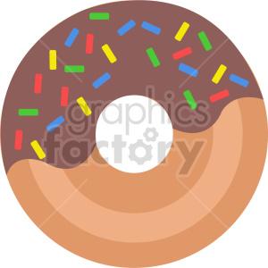 Doughnut vector icon clipart. Commercial use image # 415212