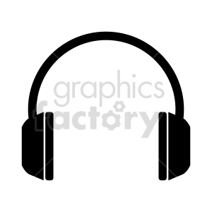 headphones vector icon clipart. Commercial use image # 415256