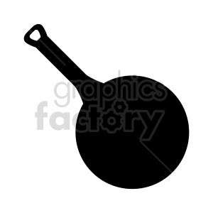 frying pan silhouette vector clipart clipart. Commercial use image # 415271