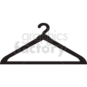cloths hanger vector icon clipart. Commercial use image # 415273