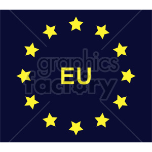 Flag of European Union vector clipart 06 clipart. Commercial use image # 415299