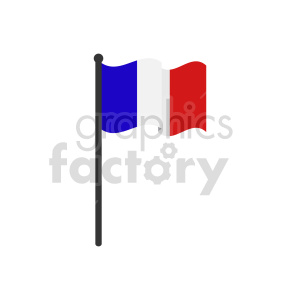 flag of France vector clipart icon 01 clipart. Commercial use image # 415307