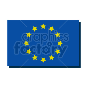 Flag of Europe vector clipart 04 clipart. Commercial use image # 415331