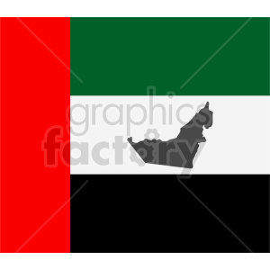 United Arab Emirates flag vector clipart 03 clipart. Commercial use image # 415354