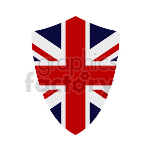 Great Britain flag shield vector clipart 03 clipart. Commercial use image # 415387