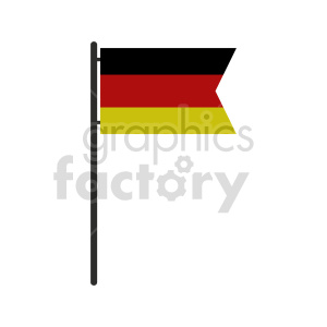 clipart - German flag vector clipart icon 05.