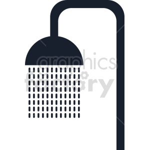 clipart - shower icon vector graphic.