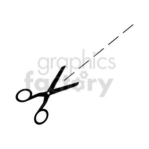 cutline scissor vector clipart clipart. Commercial use image # 415606