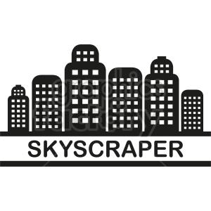 vector skyscraper clipart clipart. Commercial use image # 415634