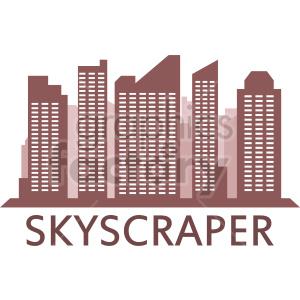 vector skyscraper clipart design clipart. Commercial use image # 415661