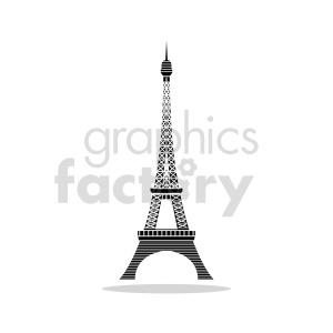Eiffel Tower Paris France outline vector clipart. Commercial use image # 415669
