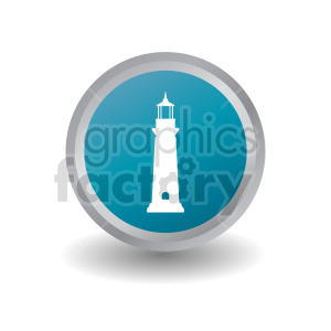 lighthouse button vector graphic clipart. Commercial use image # 415671